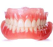 Removable dentures.