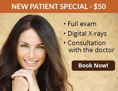 New patient special, $50. Book now!